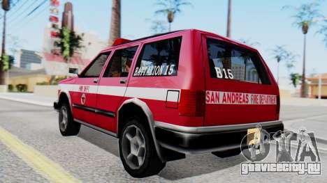FDSA Fire SUV для GTA San Andreas вид слева