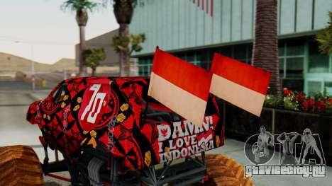 The Seventy Monster для GTA San Andreas вид сзади