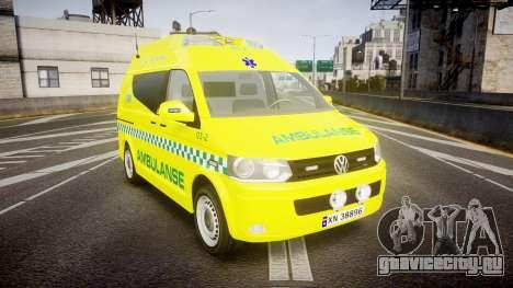 Volkswagen Transporter Norwegian Ambulance [ELS] для GTA 4