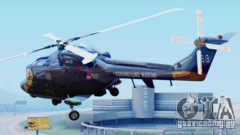 Westland SH-14D Lynx для GTA San Andreas вид слева