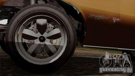 GTA 5 Declasse Vigero для GTA San Andreas вид сзади