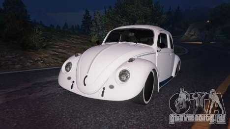 Volkswagen Beetle для GTA 5 руль и приборная панель