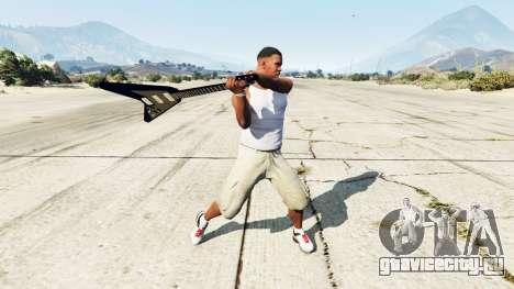 Электрогитара Gibson Flying V для GTA 5 второй скриншот