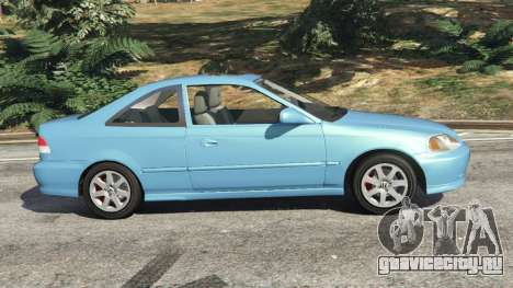 Honda Civic Si 1999 v1.1 для GTA 5 вид слева