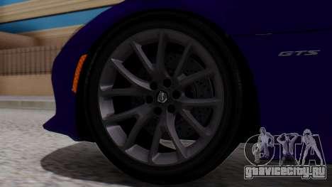 Dodge Viper SRT GTS 2013 HQLM (HQ PJ) для GTA San Andreas вид сзади слева