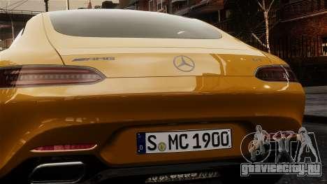 Mercedes-Benz SLS AMG GT 2016 для GTA 4 вид сзади
