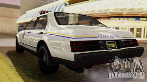 GTA 5 Albany Esperanto Police Roadcruiser для GTA San Andreas вид слева