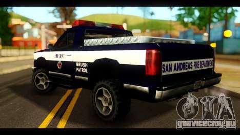 FDSA Brush Patrol Car для GTA San Andreas вид слева