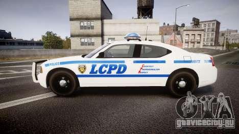 Dodge Charger LCPD для GTA 4 вид слева