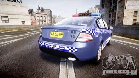 Ford Falcon FG XR6 Turbo NSW Police [ELS] для GTA 4 вид сзади слева
