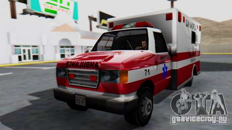 Ambulance with Lightbars для GTA San Andreas