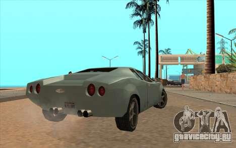 GTA VC Infernus SA Style для GTA San Andreas вид сзади