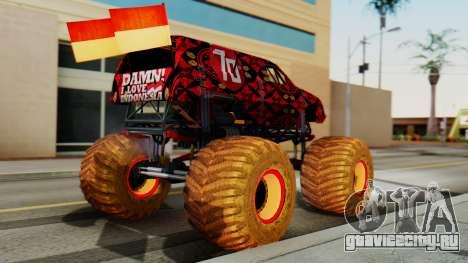 The Seventy Monster для GTA San Andreas вид слева