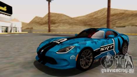 Dodge Viper SRT GTS 2013 HQLM (HQ PJ) для GTA San Andreas вид снизу