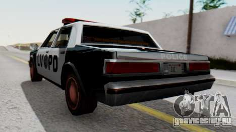 Police LV with Lightbars для GTA San Andreas вид слева