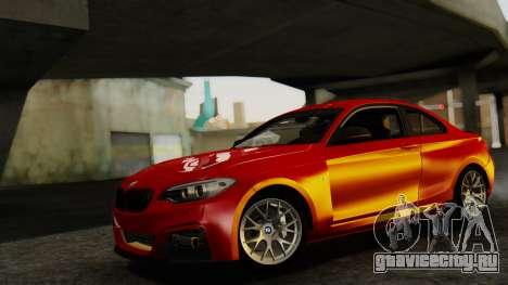 BMW M235i F22 Sport 2014 для GTA San Andreas вид сзади слева