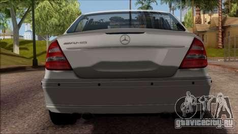 Mercedes-Benz E55 W211 AMG для GTA San Andreas вид сзади