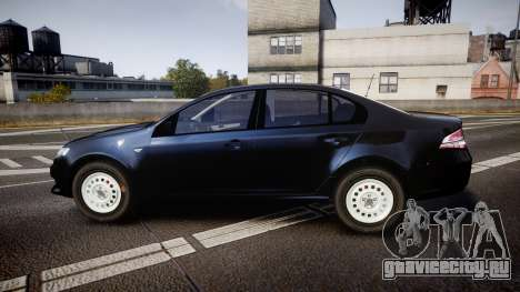 Ford Falcon FG XR6 Unmarked NSW Police [ELS] для GTA 4 вид слева