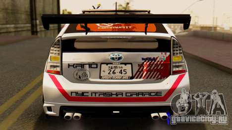 Toyota Prius JDM 2011 Itasha для GTA San Andreas вид сверху