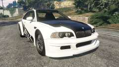 BMW M3 GTR E46 black on white для GTA 5