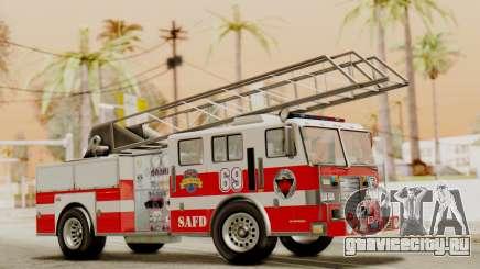 SAFD Fire Lader Truck Flat Shadow для GTA San Andreas