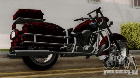 Classic Batik Motorcycle для GTA San Andreas вид слева