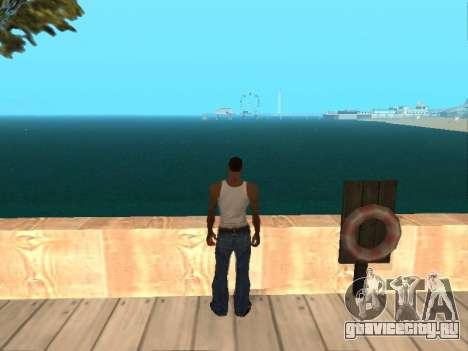 Тёмно-зелёная реалистичная вода для GTA San Andreas четвёртый скриншот