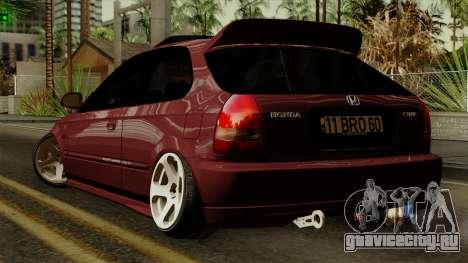 Honda Civic Hatchback B.O. Yapım для GTA San Andreas вид слева