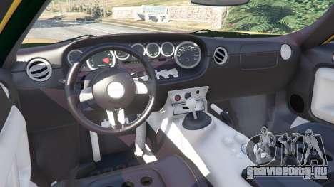 Ford GT 2005 v1.1 для GTA 5 руль и приборная панель