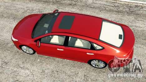 Toyota Avalon 2014 для GTA 5 вид сзади