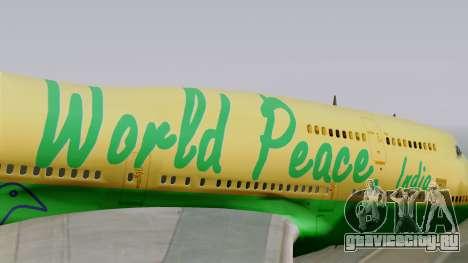 Boeing 747-400 World Peace для GTA San Andreas вид сзади
