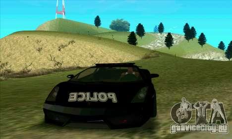 Federal Police Lamborghini Gallardo для GTA San Andreas