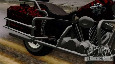 Classic Batik Motorcycle для GTA San Andreas вид сзади