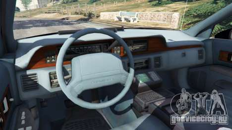 Chevrolet Caprice 1991 LSPD для GTA 5 вид сзади справа
