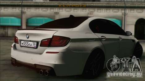 BMW M5 F10 Grey Demon для GTA San Andreas вид слева