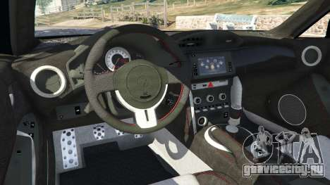 Toyota GT-86 v1.1 для GTA 5 вид сзади справа