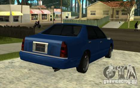 Тойота Краун Majesta стиле GTA для GTA San Andreas вид сзади слева