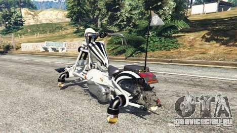 Motojet Hexer для GTA 5 вид сзади слева