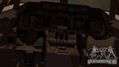 Boeing 747-100 American Airlines для GTA San Andreas вид изнутри