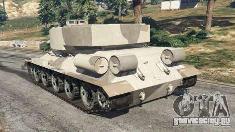 Т-34 custom для GTA 5 вид сзади слева