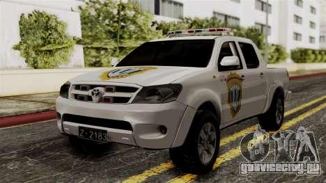 Toyota Hilux CICPC 2007 для GTA San Andreas