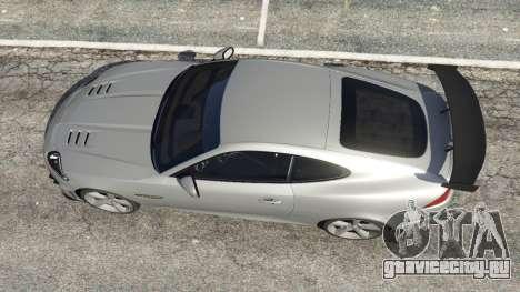 Jaguar XKR-S GT 2013 для GTA 5 вид сзади