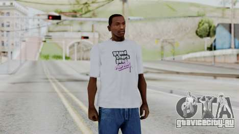GTA Vice City T-shirt White для GTA San Andreas