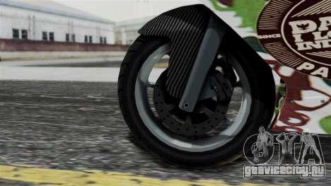Bati Wayang Camo Motorcycle для GTA San Andreas вид справа