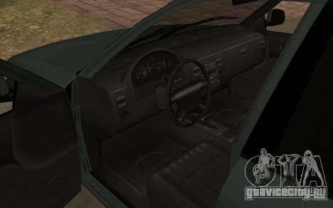 Форд Краун Виктория 1995 Стиль SA для GTA San Andreas вид изнутри