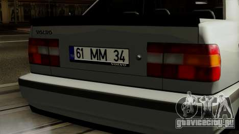 Volvo 850 для GTA San Andreas вид сзади