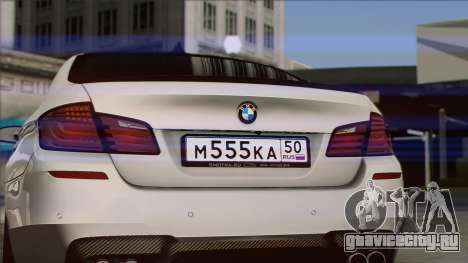 BMW M5 F10 Grey Demon для GTA San Andreas вид справа