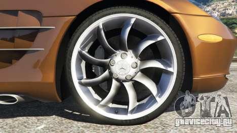 Mercedes-Benz SLR McLaren 2015 для GTA 5 вид сзади справа