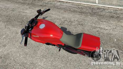 Ducati Diavel Carbon 2011 для GTA 5 вид сзади