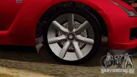 GTA 5 Elegy RH8 для GTA San Andreas вид справа